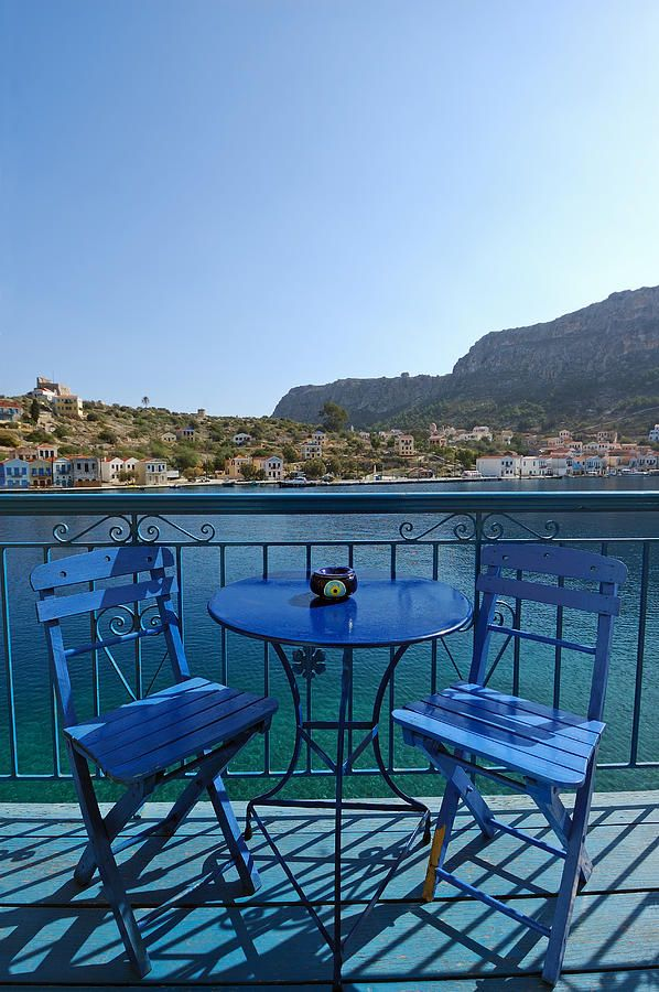 Balcony in beautiful Kastelorizo island, Greece. If I lived here I would be So happy all the time
