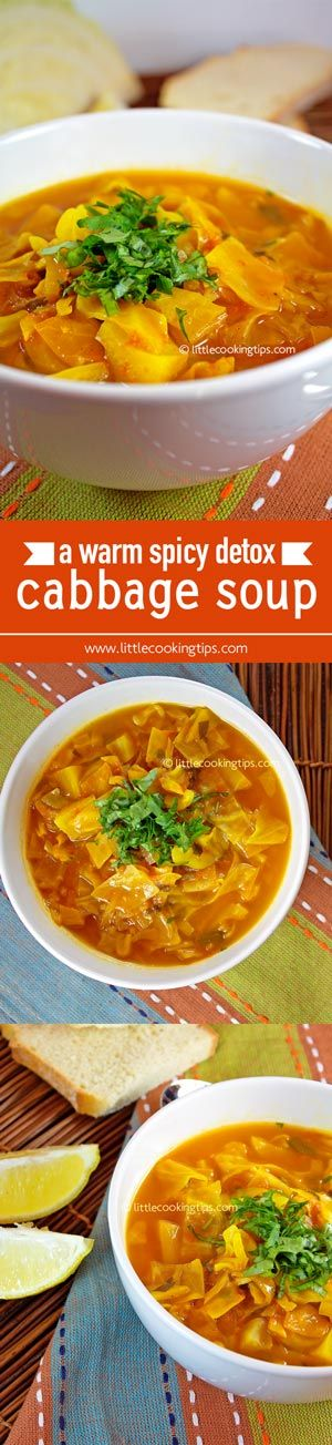 An ideal soup for any cold winter day. Perfect if you 're looking for detox foods to clean your body or trying to lose some weight. Healthy and delicious you 'll be making this again and again.  Repin to your own inspiration board! #healthy #recipe #detox #cabbage #soup #affordable #lowcost
