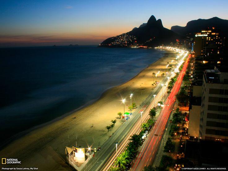 Rio de Janeiro at night!