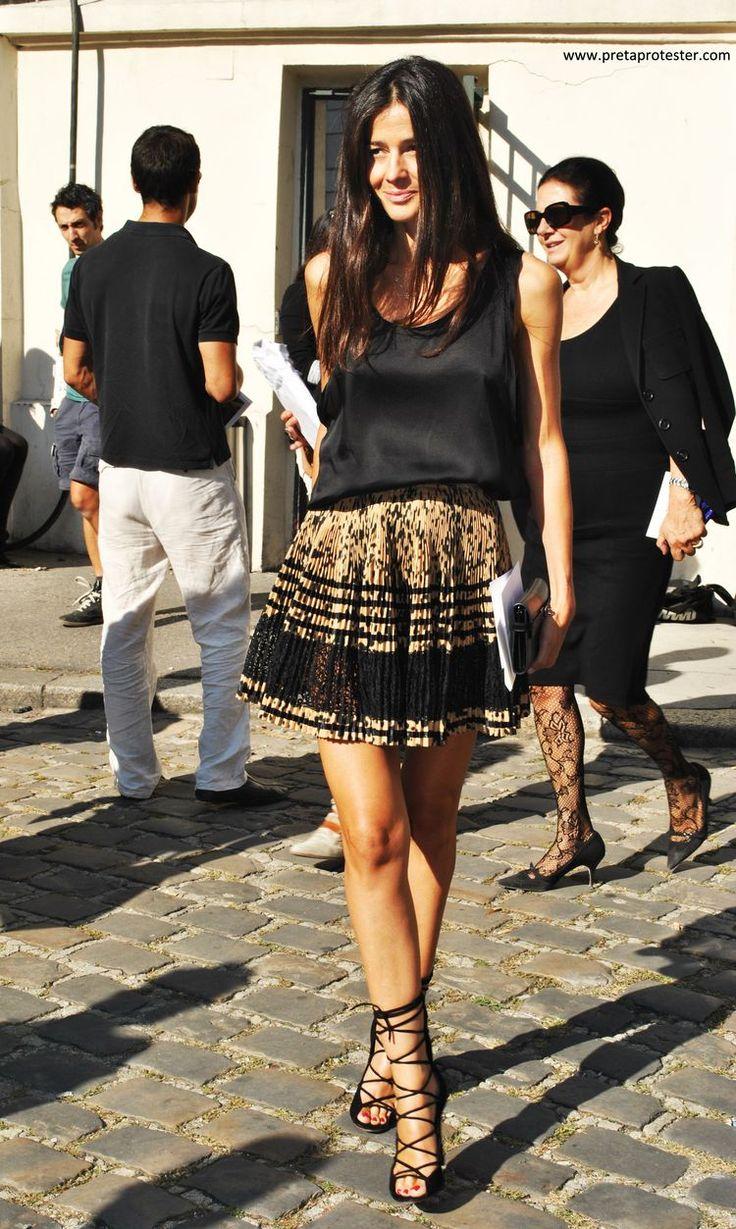 Barbara Martelo in those Giuseppe Zanotti lace ups!