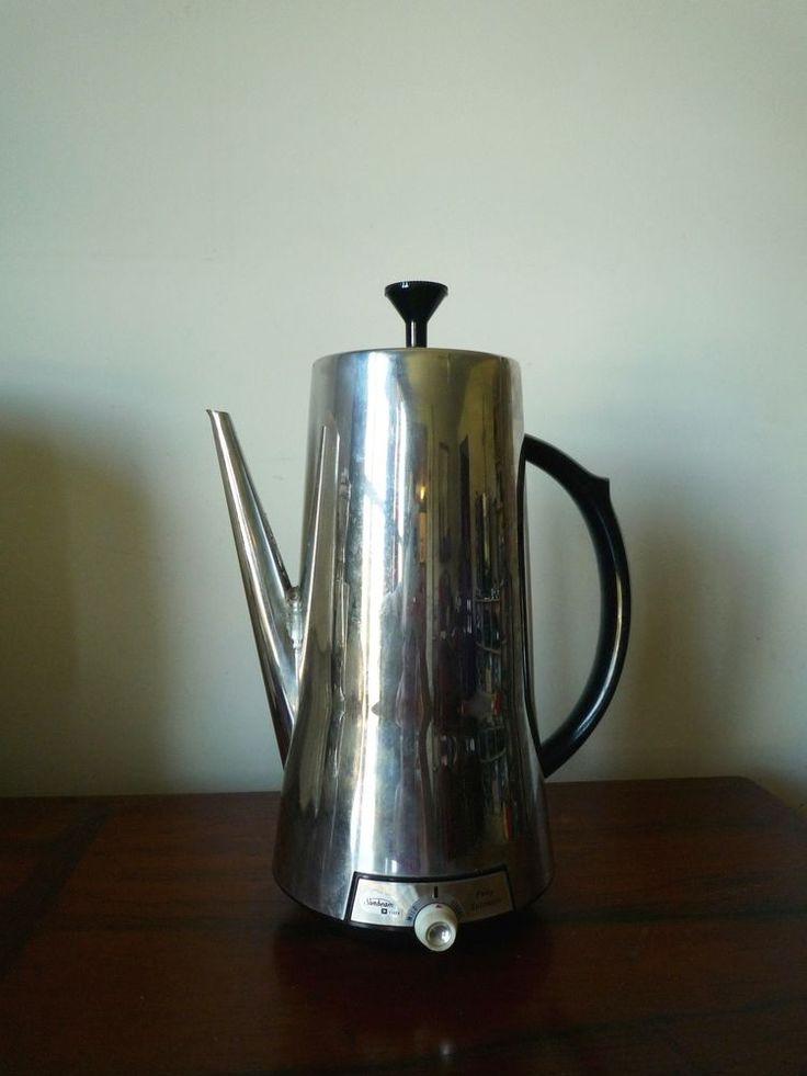 Vtg SUNBEAM 10 Cup Fully Automatic Coffee Master Percolator Pot Maker VAP 75 USA #sunbeamVista #vintagePercolator #vintageCoffeeMaker #midcentury #sunbeamVAP75 #valentinesdaygift