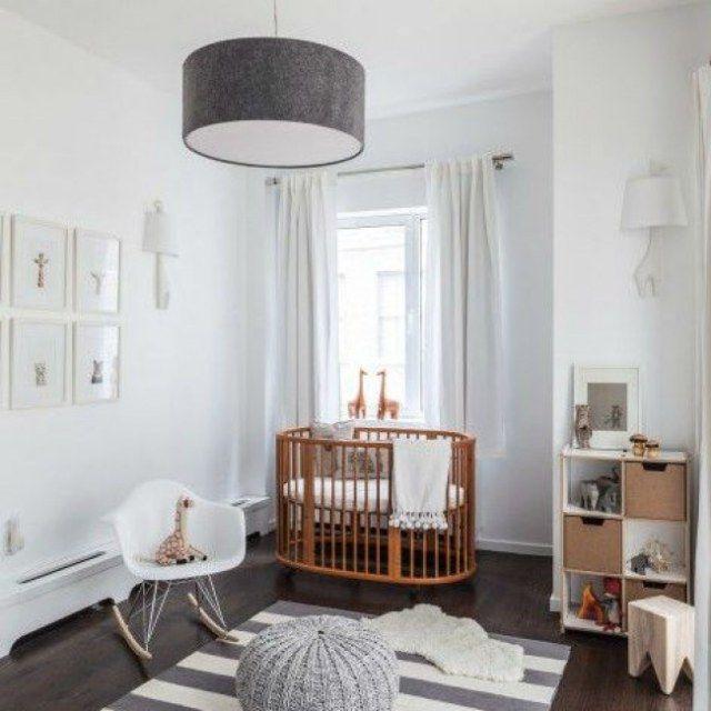 Chambre bébé gris et blanc