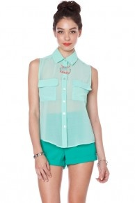 Tilly button down in mint: As Sheer, Mint 38, Shopsosi Style, Shopsosi Mint, 7 Buttons, Tillys Buttons, 38 Shopsosi, Classic Tops, Shopsosi With
