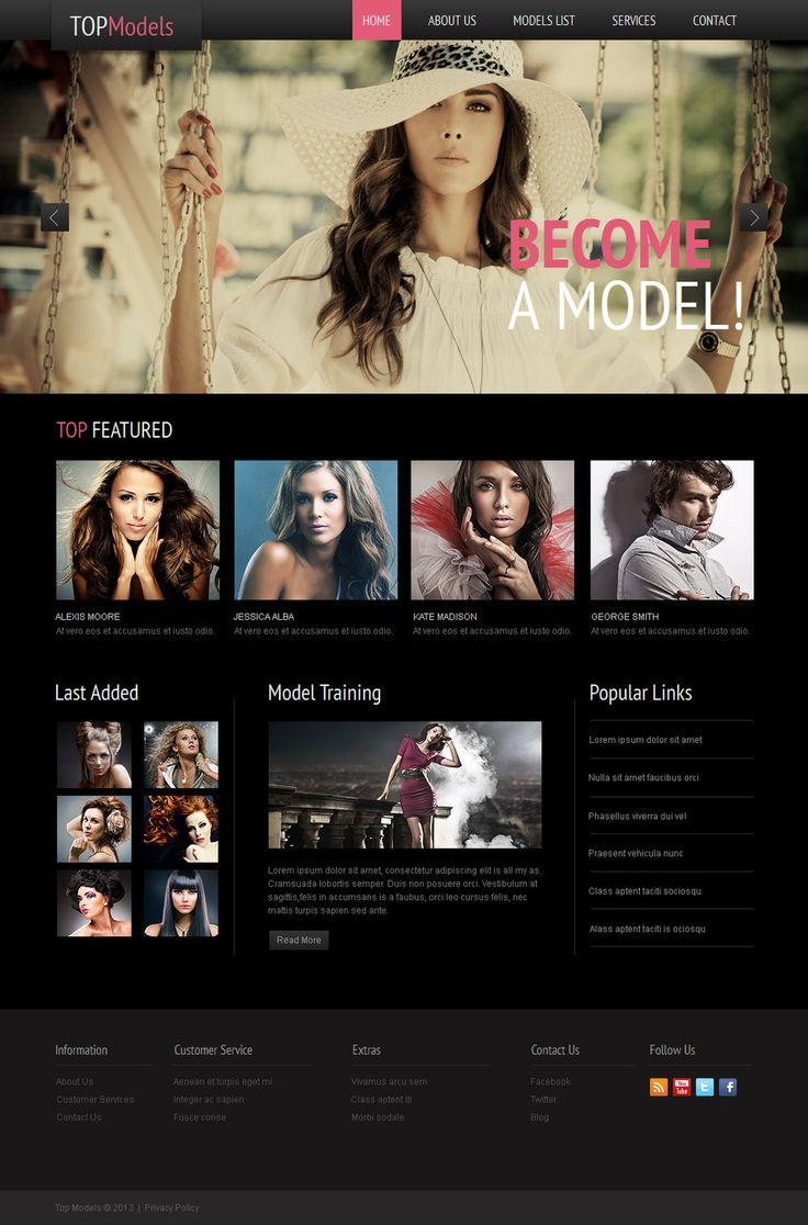Top Model Agency #MotoCMS #HTML5 Template #42464 #ZendOptimizer