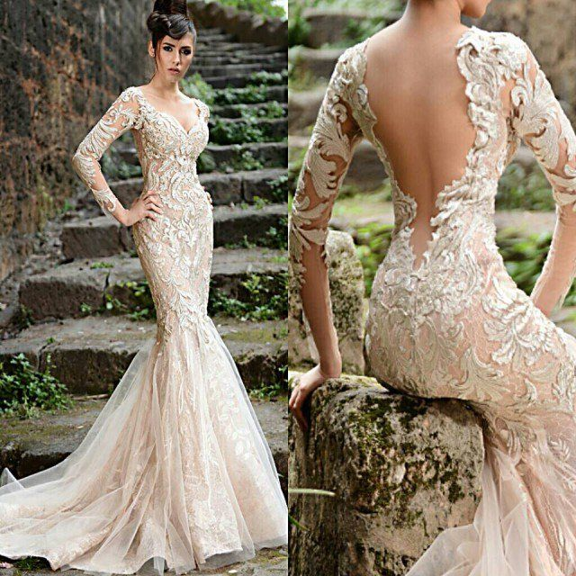 9 best images about most beautiful wedding gowns on for Most sexy wedding dresses