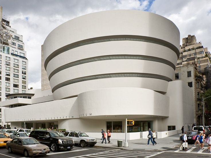 Guggenheim Museum, New York City; by Frank Lloyd Wright (1959).