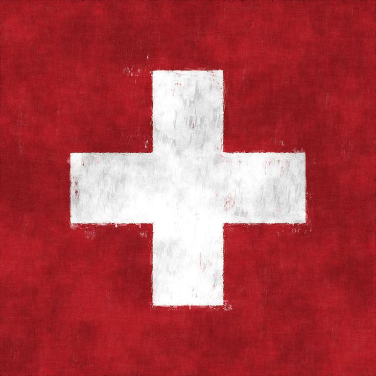 Switzerland Flag Digital Art by World Art Prints And Designs