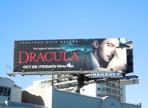 Dracula TV series billboard Sunset Strip