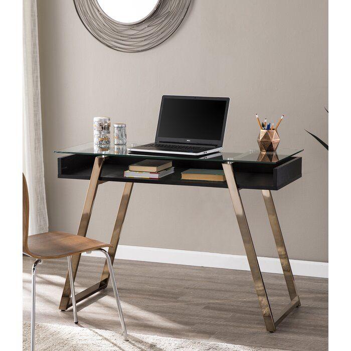 Chehalis Desk Small Glass Desk Furniture Glass Office Desk Modern