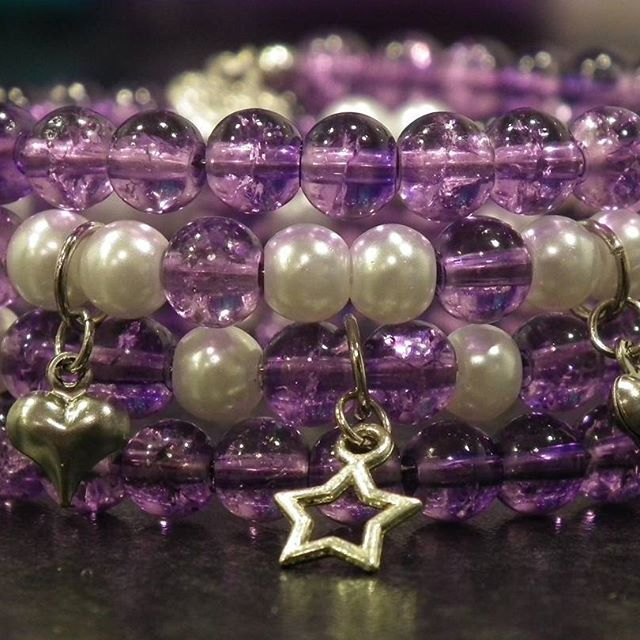 My daily challenge - day 76  #lismdc #lismjewelry #jewelry #bracelet #purple #handmadewithlove