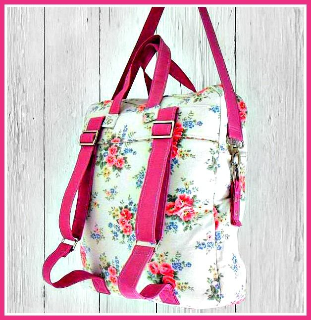 The Book Bag Backpack – PDF Sewing Pattern + How to Sew an Easy Welt Seam  from Mrs. H. and Claudette Davis-Bonnick