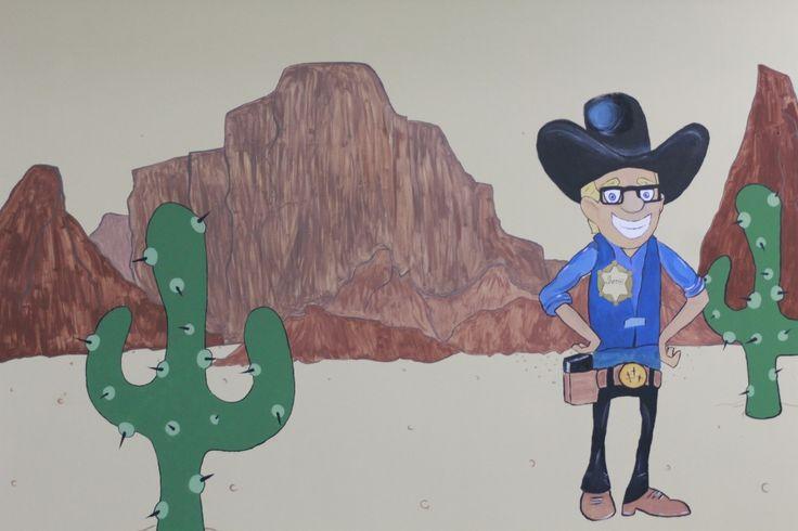Sheriff mural in Faithville