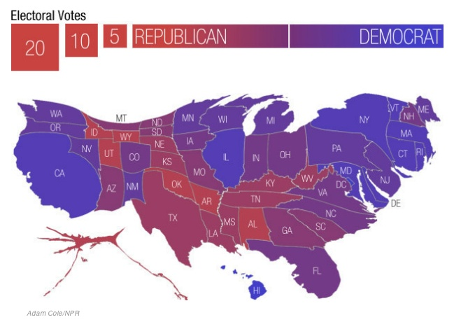 Best Cool Maps Images On Pinterest Cartography Nature And - Us map electoral to color