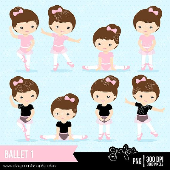 BALLET 1 Digital Clipart Ballet Clipart Ballerina by grafos