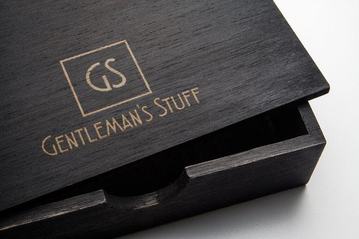 Gentleman's Stuff logo on a wooden box