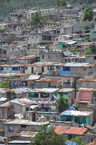 View of Bolosse from top of Orphanage in Port au Prince Haiti