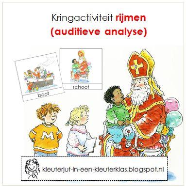 Kringactiviteit rijmen, thema Sinterklaas