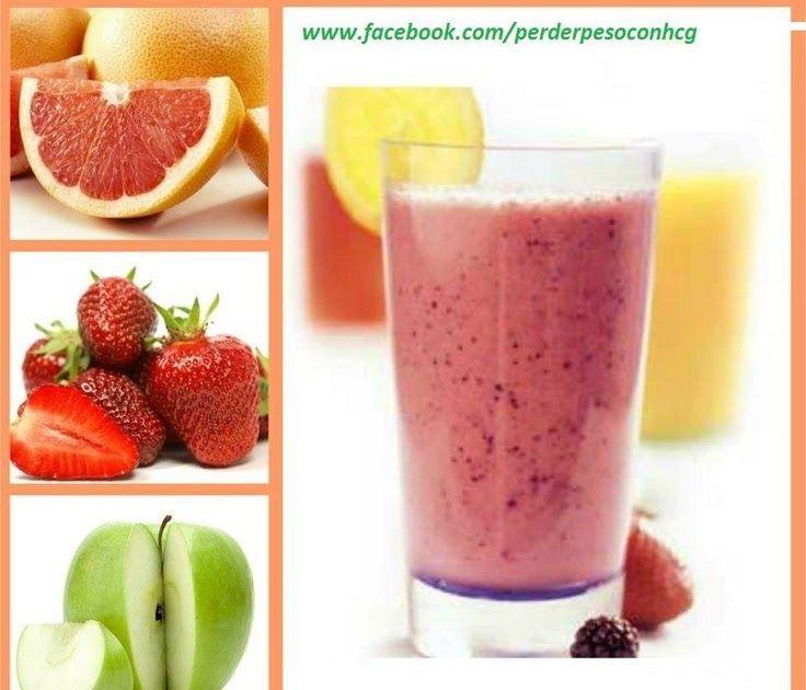 Ingredientes: • Media taza de fresas • Una pera • Una manzana • El zumo de una naranja • El zumo de una toronja • El zumo de un limón...
