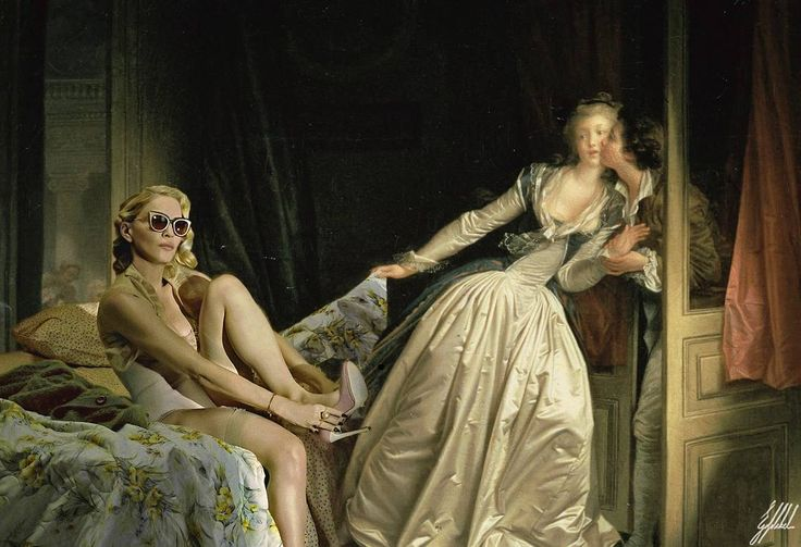 #madonna #mertalas #celebrity #famous #painting #photography #art #artwork #photomanipulation @mertalas @madonna  Hurry up Madonna, you are gonna be late for the show.  Reference photo: Madonna by Mert Alas & Marcus Piggot for Interview Magazine  Original painting: The Stolen Kiss painting by Jean-Honoré Fragonard.