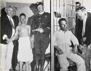 Giuseppe Zangara nel carcere di Raiford, dove fu poi giustiziato (dal filmato della University of South Carolina)