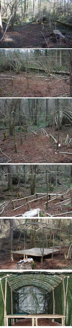 Woodland Shelter Build. | Woodlands.co.uk