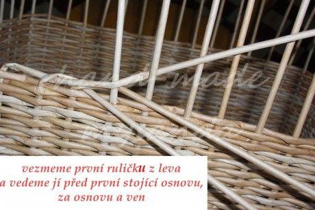 moje tvořeníčko - Fotoalbum - PLETENÍ Z PAPÍRU-návody - TŘÍPÁROVÁ UZAVÍRKA