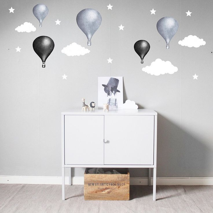 WALLSTICKER - STICKSTAY CLOUDS (WHITE)