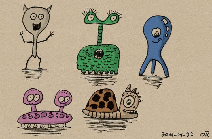 Doodle Break: Doodle Monsters | des-OR-mad (by Oliver Rapp)