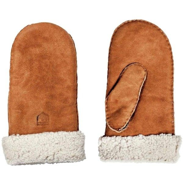 Hestra Sheepskin Mitten ($130) ❤ liked on Polyvore featuring accessories, gloves, lined mittens, ski mittens, sheepskin lined mittens, sheepskin gloves und mitt