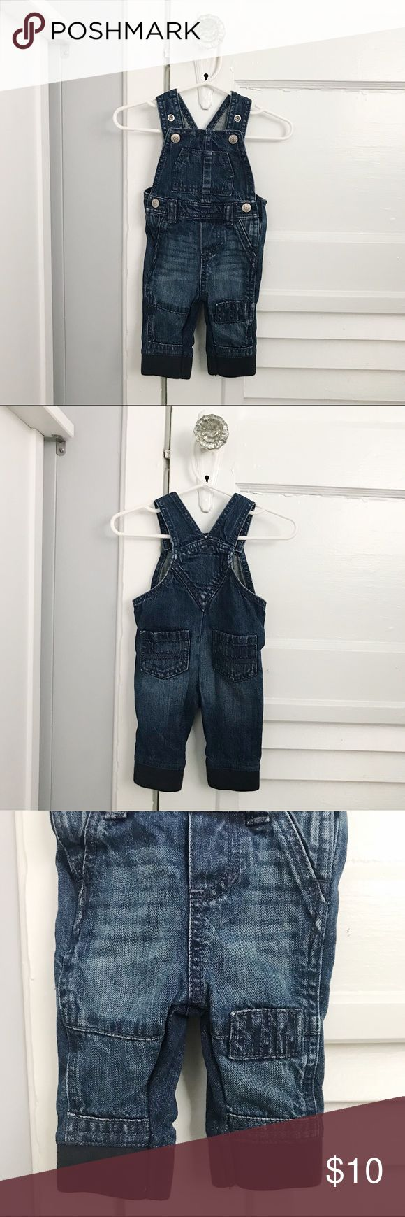 Old Navy Denim Overalls Old Navy Denim Overalls with fabric cuffs on the bottom. These are in EXCELLENT used condition, only worn twice. Old Navy Bottoms Overalls