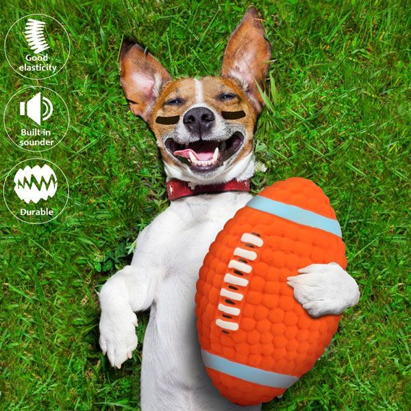 Pin On Football Squeaker Dog Toy