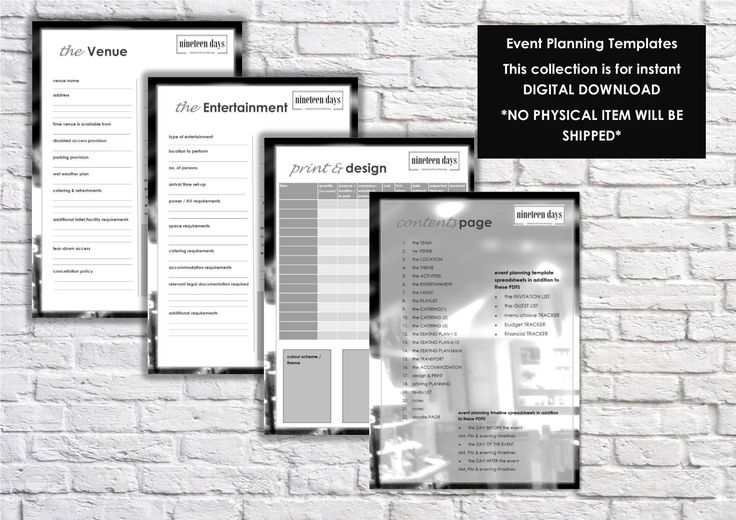 11 best Event Planning Collections images on Pinterest Guest list