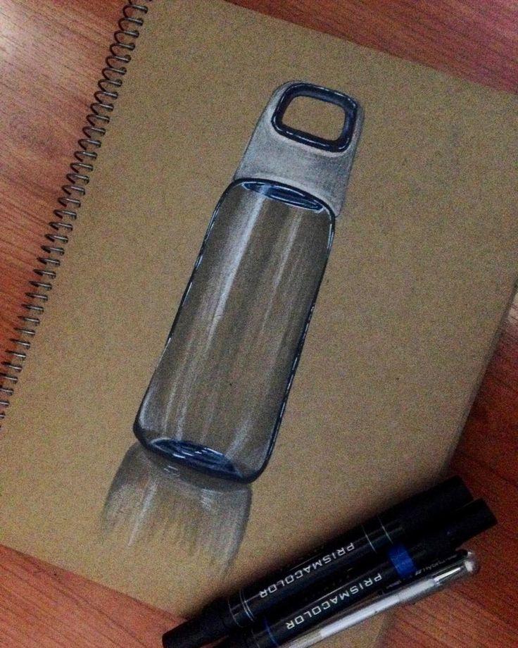 Glass bottle 😎 #sketching #markerrendering #markersketching #prismacolor #markersketch #marker #mydrawing #sketch_daily #iddrawing #designsketch #pencilsketch #doodleday #doodleart #doodle #draw #idsketch #ID
