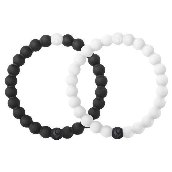 Black & White Lokai Bracelet Set - Black/White Large (£28) ❤ liked on Polyvore featuring jewelry, bracelets, accessories, lokai bracelet set, black and white jewelry, black white jewelry and silicone jewelry