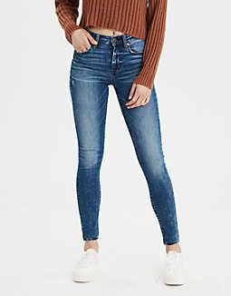 60ac1fdf7fb AE Ne(X)t Level High-Waisted Jegging, Medium Tinted Indigo | American Eagle  Outfitters. Recommended for petites by Dress Corilynn.