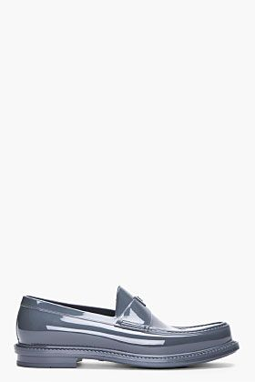 YVES SAINT LAURENT Grey Kennedy Show Loafers