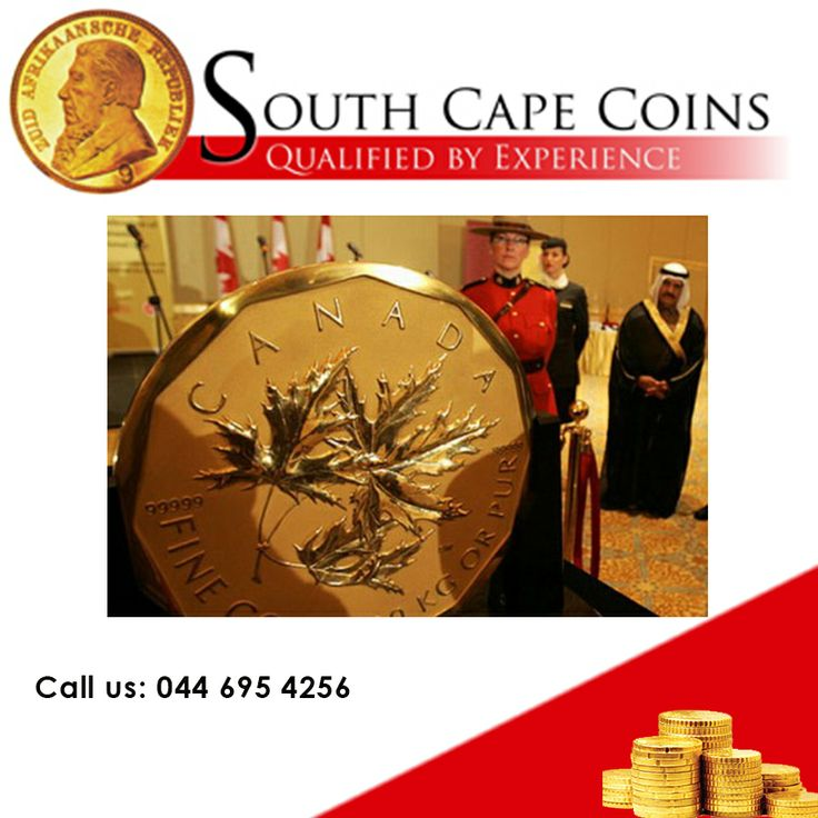 World's largest gold coin ! A 2007 Canadian $ 1,000.000 Maple Leaf! This monetary item is twenty inches (53 cm) in diameter and one inch thick. It's made of 99.999 percent gold bullion and weighs 220 pounds (100 kilograms). For more click here: http://bit.ly/1iApwUC #worldslargestcoin #coin #numismatic