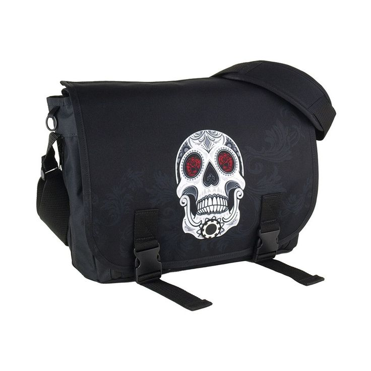 Messenger Diaper Bag - Graphics – Sugar Skull by DadGear. Carrying a diaper bag doesn't have to be embarrassing. Rock fatherhood with a graphic messenger diaper bag.