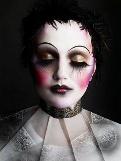 Modern Clown :: Pierrot Gothic Makeup by Makeup Artist Alex Box
