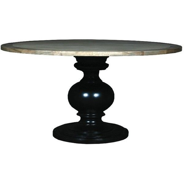 Rodin Round Dining Table Black ($1,550) ❤ Liked On Polyvore Featuring Home,  Furniture