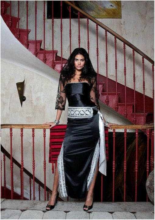 un autre mod 232 le de robes kabyles en couleur noir et argentin robes kabyles modernes