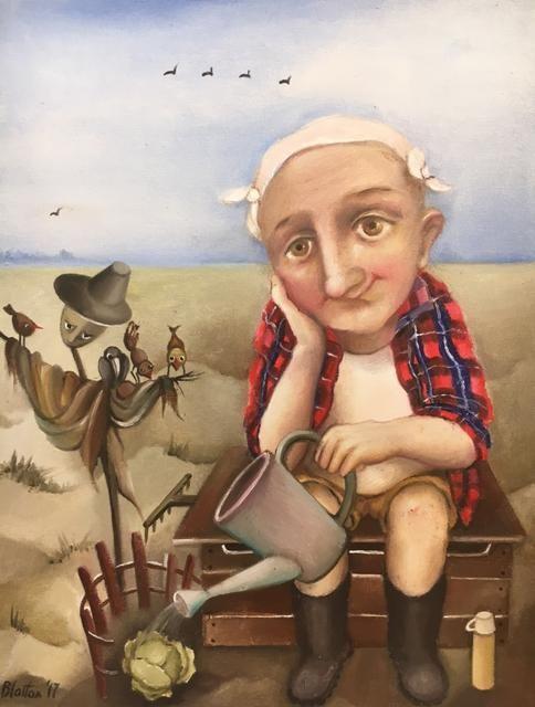 "BLATTON - ""GARDENER"" #fineart #oilpainting #oilpaintingoncanvas #artist #artists #painter #painters #painting #paintings #oilpaintings #oiloncanvas #artwork #figurativeart #portrait #contemporaryart #modernart #dailypainting #Blatton #MonicaBlatton"