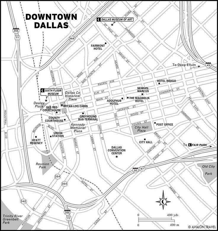 Map Of Downtown Dallas Texas