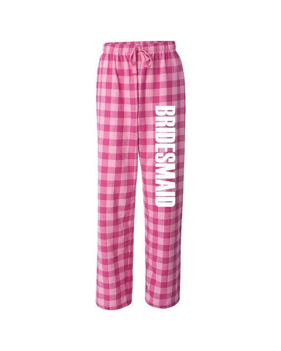 Bridesmaid Flannel Pajama Pants bridal loungewear bridal