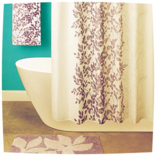 Create a zen feel with this lavender shower curtain and matching accessories. #AnnasLinens