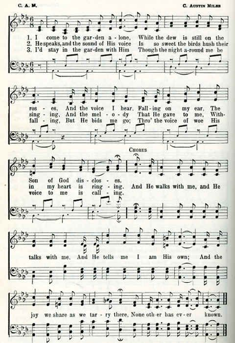 Christian Hymns Lyrics Classic Christian Hymns In The Garden The Prayer Foundation