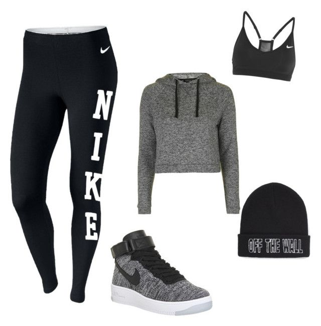 Laid back day by jnbell on Polyvore featuring polyvore, fashion, style, Topshop, NIKE, Vans and clothing