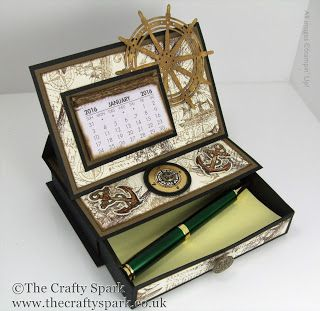The Crafty Spark: Single Drawer Desktop Calendar & Post It Note Hold...