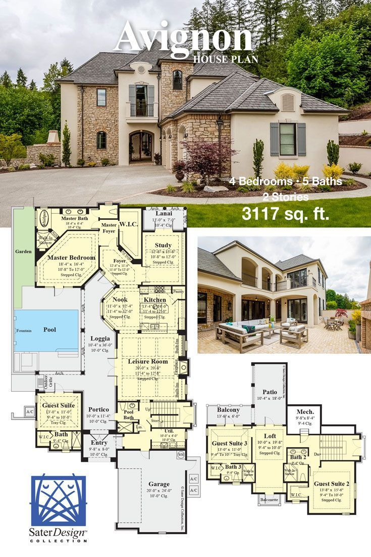 A Home With Modern French Country Style French Country House Plans Modern House Plans Luxury House Plans