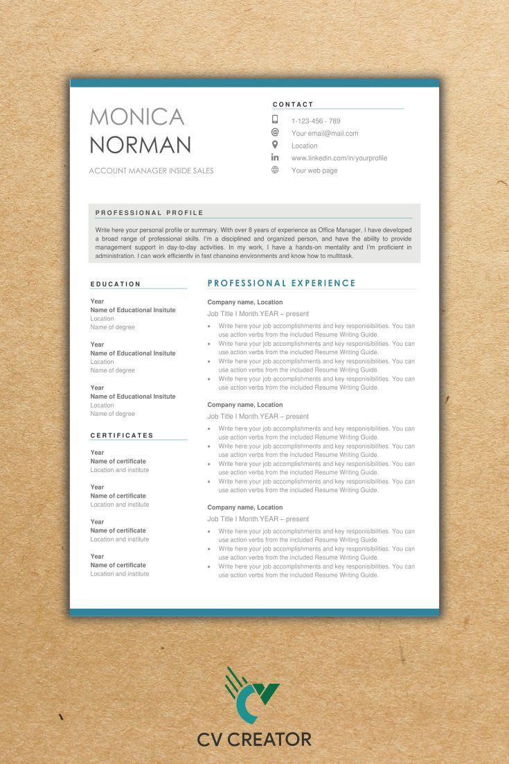 Make a stunning cv yourself with cvcreators easy